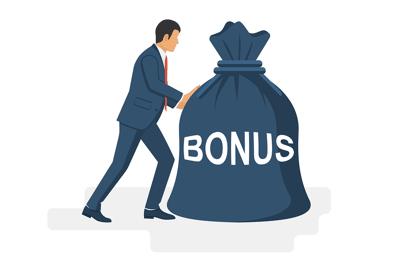 Man Pushing Bonus Bag